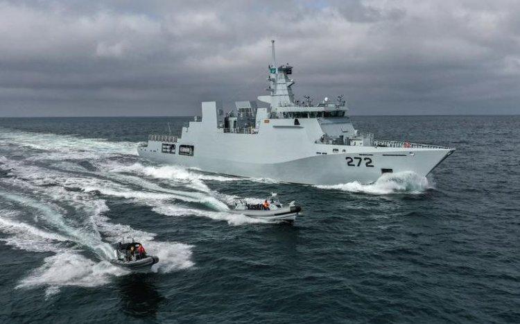 Damen Galați a livrat a doua corvetă PNS Tabuk construită în România pentru Pakistan