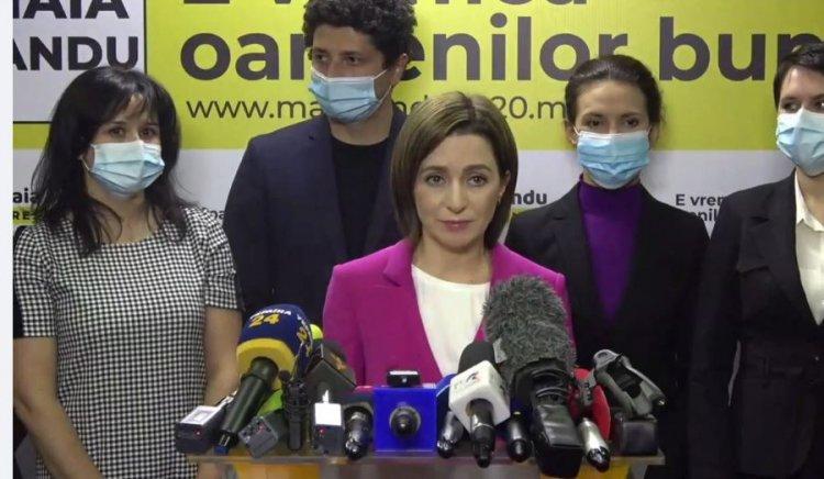 Maia Sandu, mesaj de mulţumire pentru alegători: Este o mobilizare fără precedent şi este un record istoric