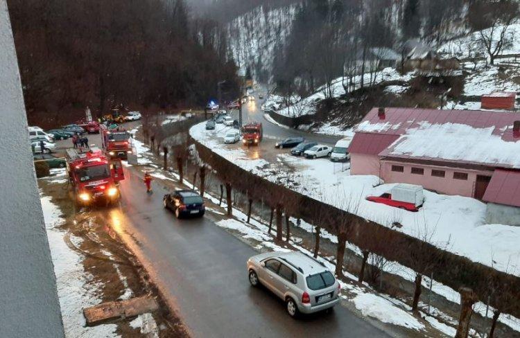 Incendiu la Spitalului de Psihiatrie din orașul Cavnic: 71 de persoane au fost evacuate