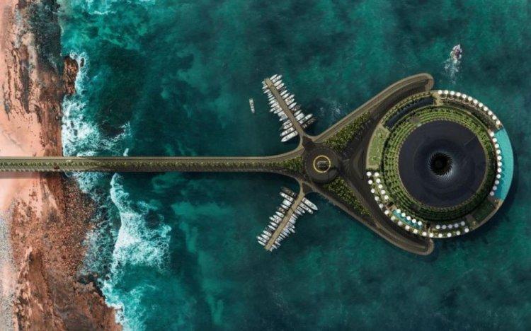 Hotel plutitor în formă de gogoaşă, care se învârte în mare, va fi construit în Qatar