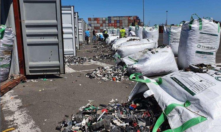 Alte 15 containere cu deșeuri din Germania au fost descoperite în Portul Constanța
