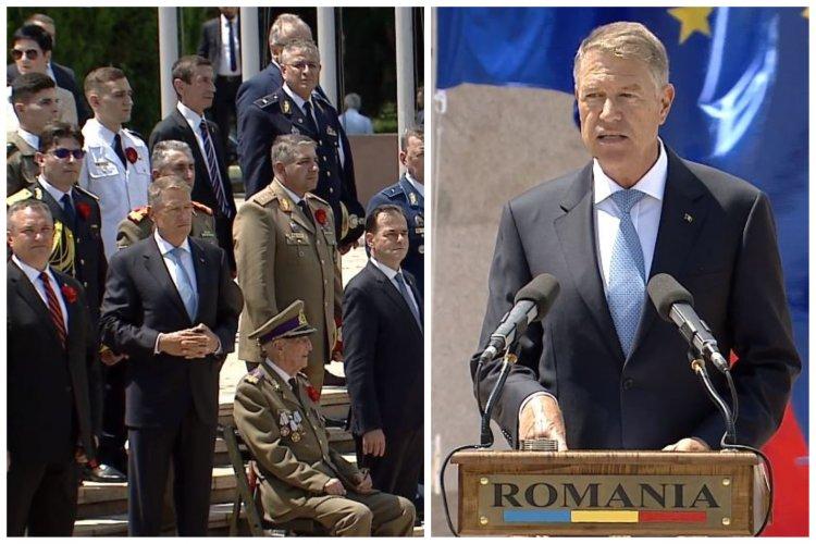 Iohannis, mesaj de Ziua Eroilor: Prin devotamentul și jertfa lor au fost apărate integritatea și libertatea țării
