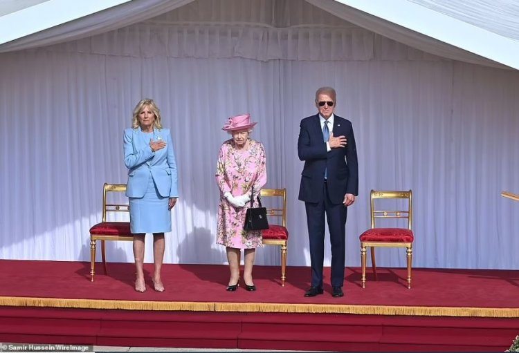 Joe Biden și soția sa, primiți de Regina Elisabeta a II-a la Castelul Windsor