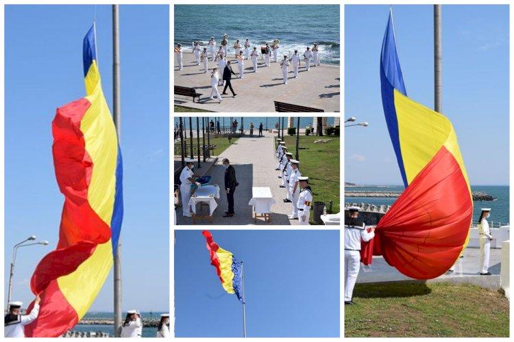 Sărbătoare importantă în România! Ziua Drapelului Național marcată la Constanța de marinarii militari